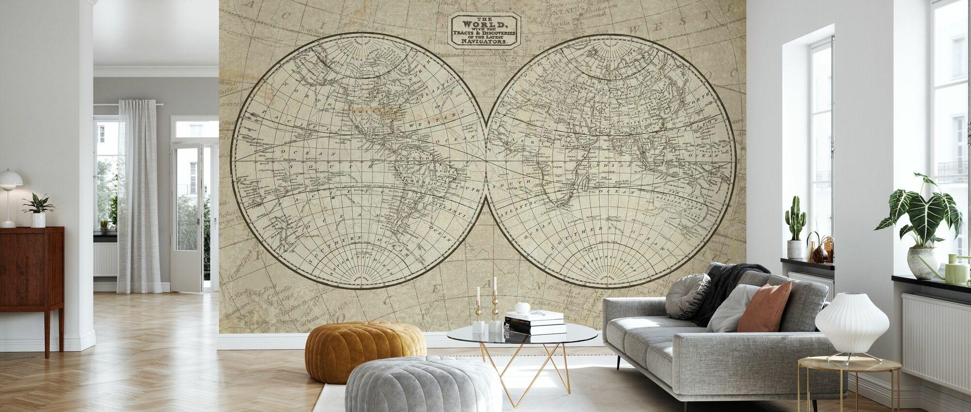 World Map - Wallpaper - Living Room