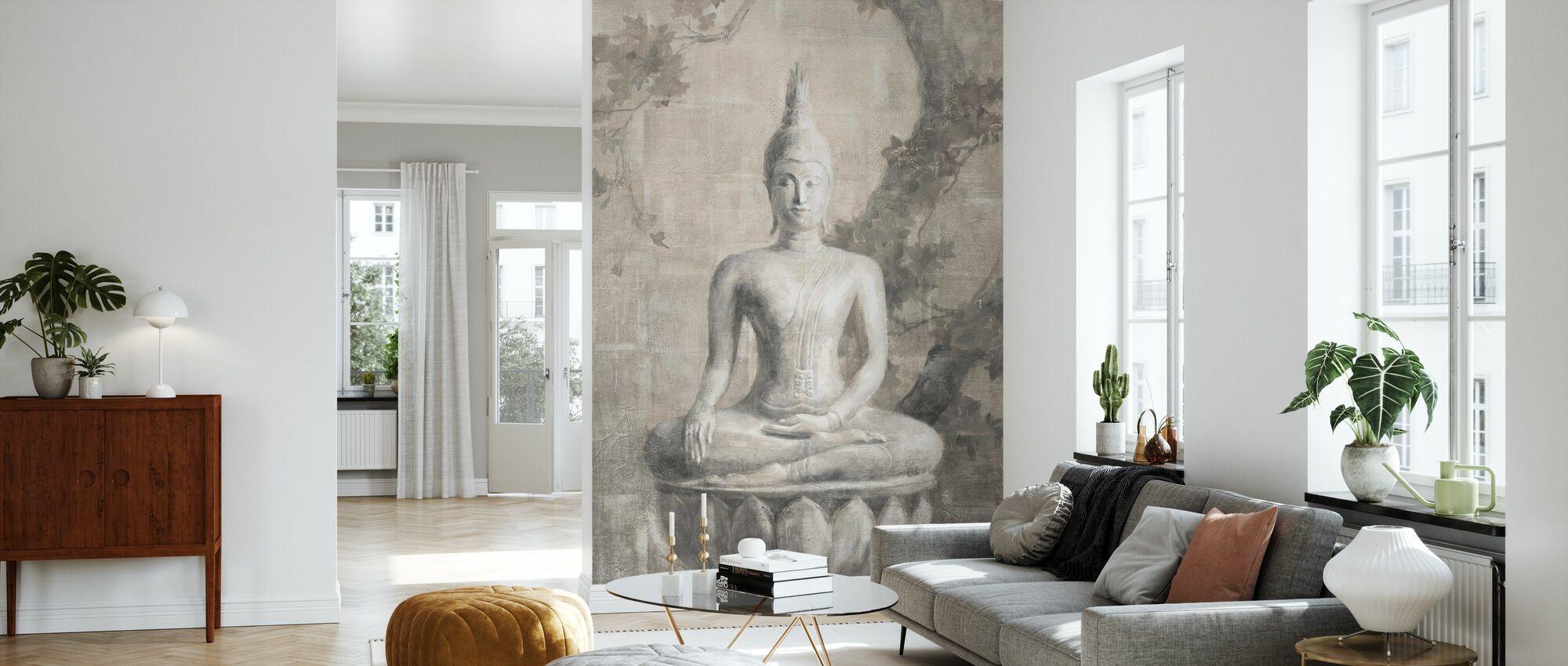Buddha Neutral Crop - Wallpaper - Living Room