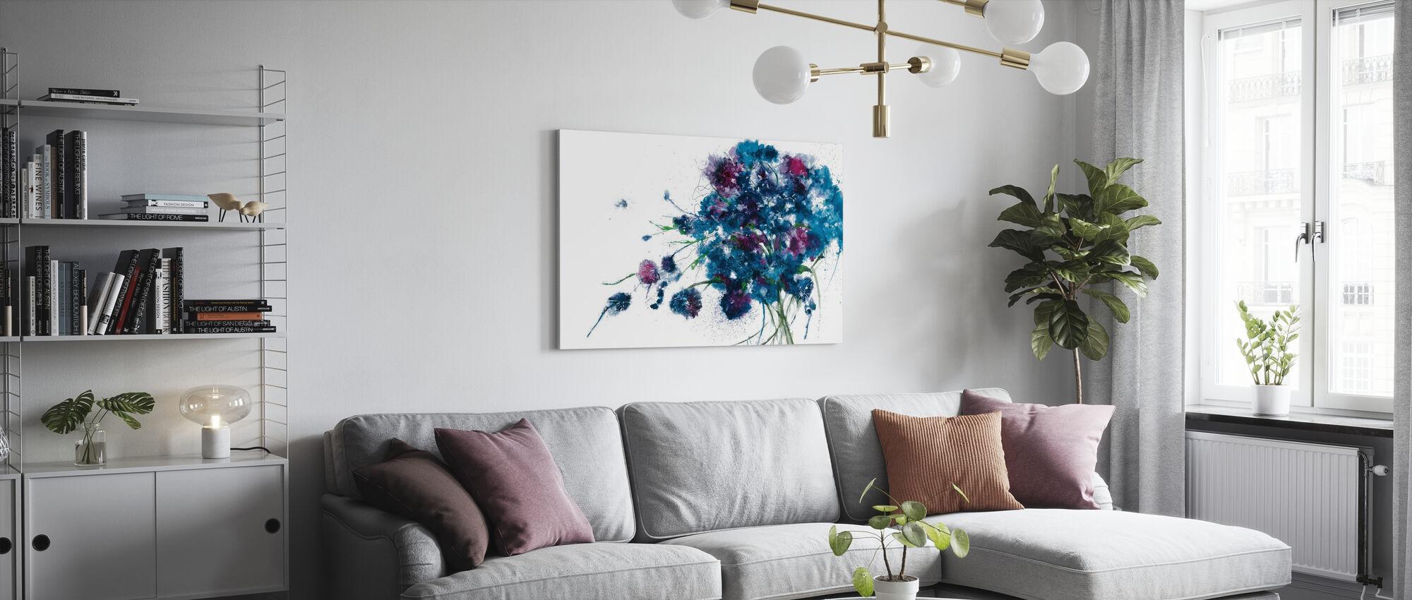 Blue Bouquet - Canvas print - Living Room