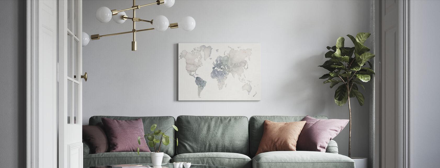 Watercolor Wanderlust - Canvas print - Living Room