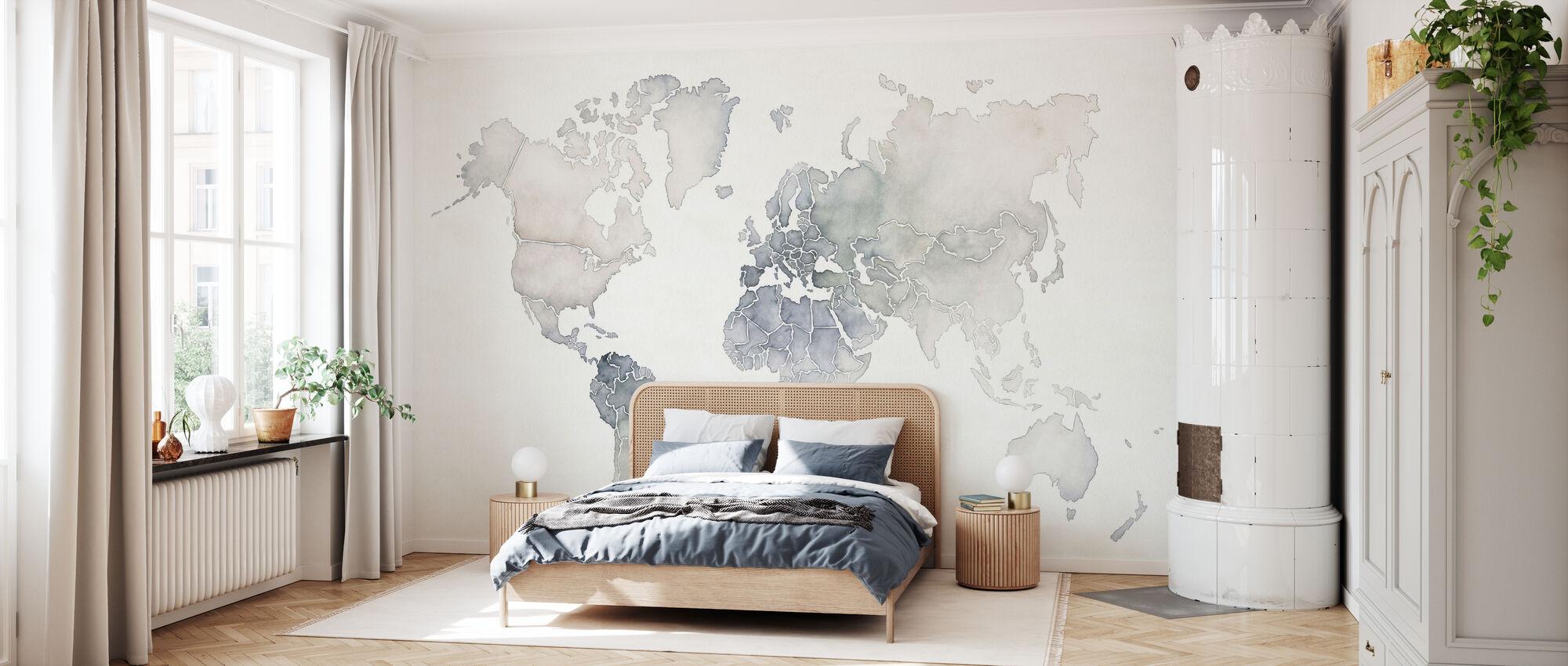 Aquarelle Wanderlust - Papier peint - Chambre