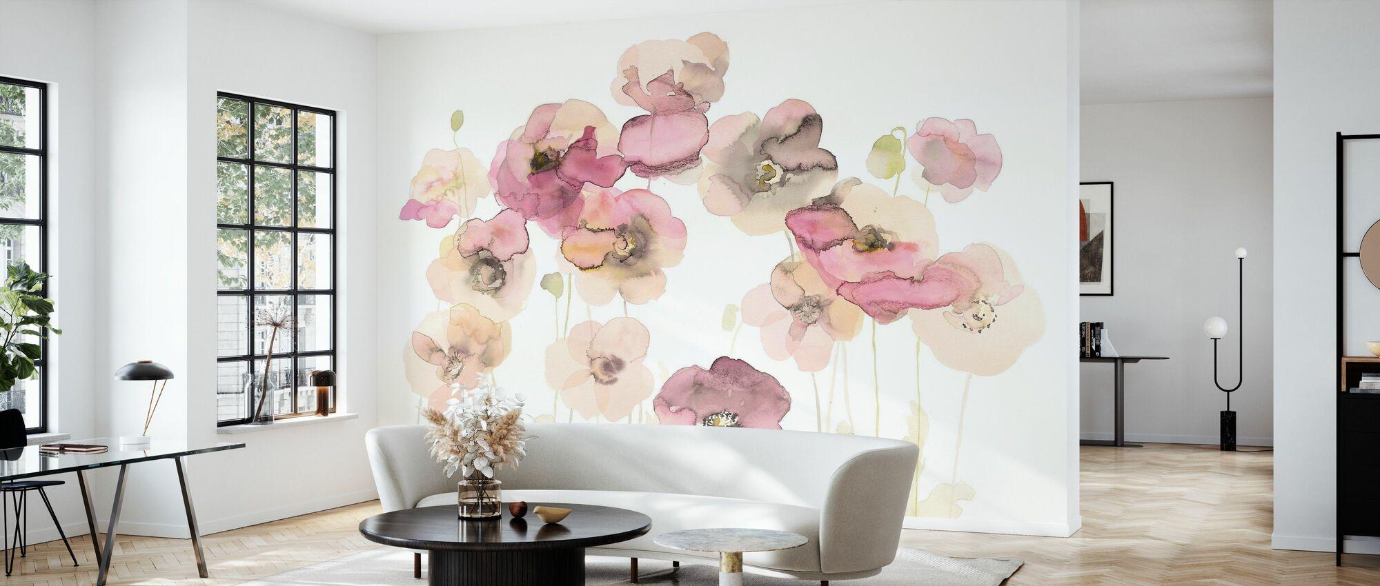 Delicate Poppies - Wallpaper - Living Room