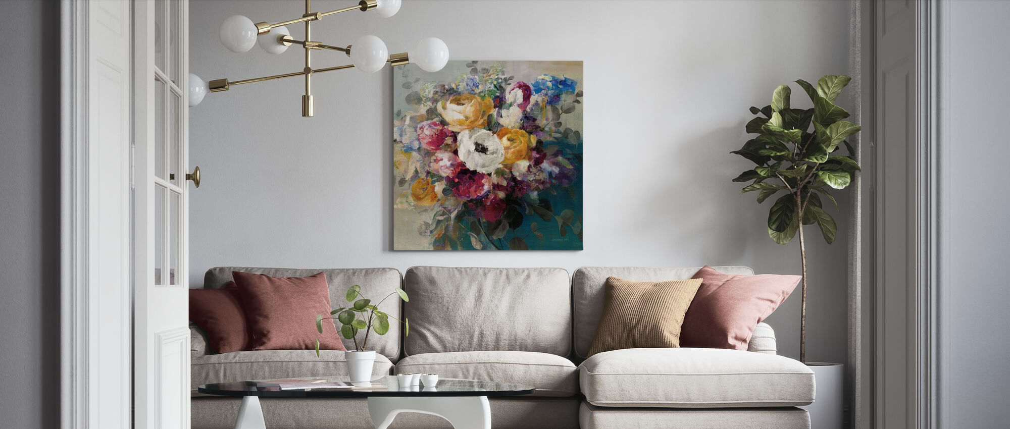 Fall Bouquet - Canvas print - Living Room