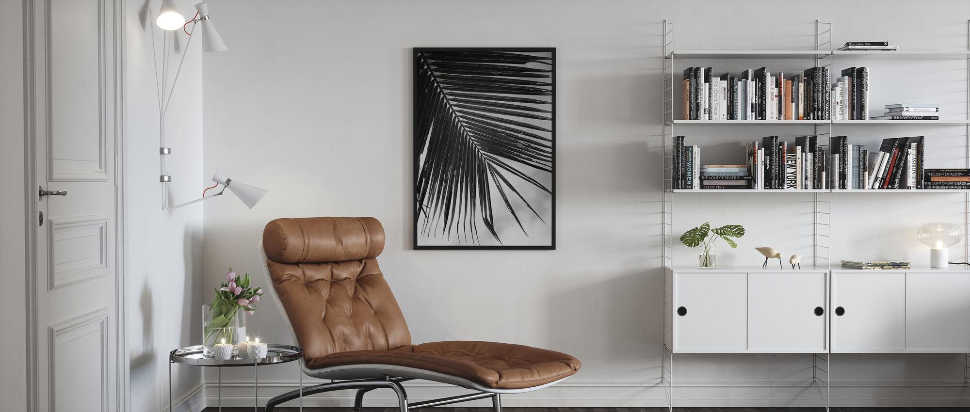 Palmblad II - Ingelijste print - Woonkamer