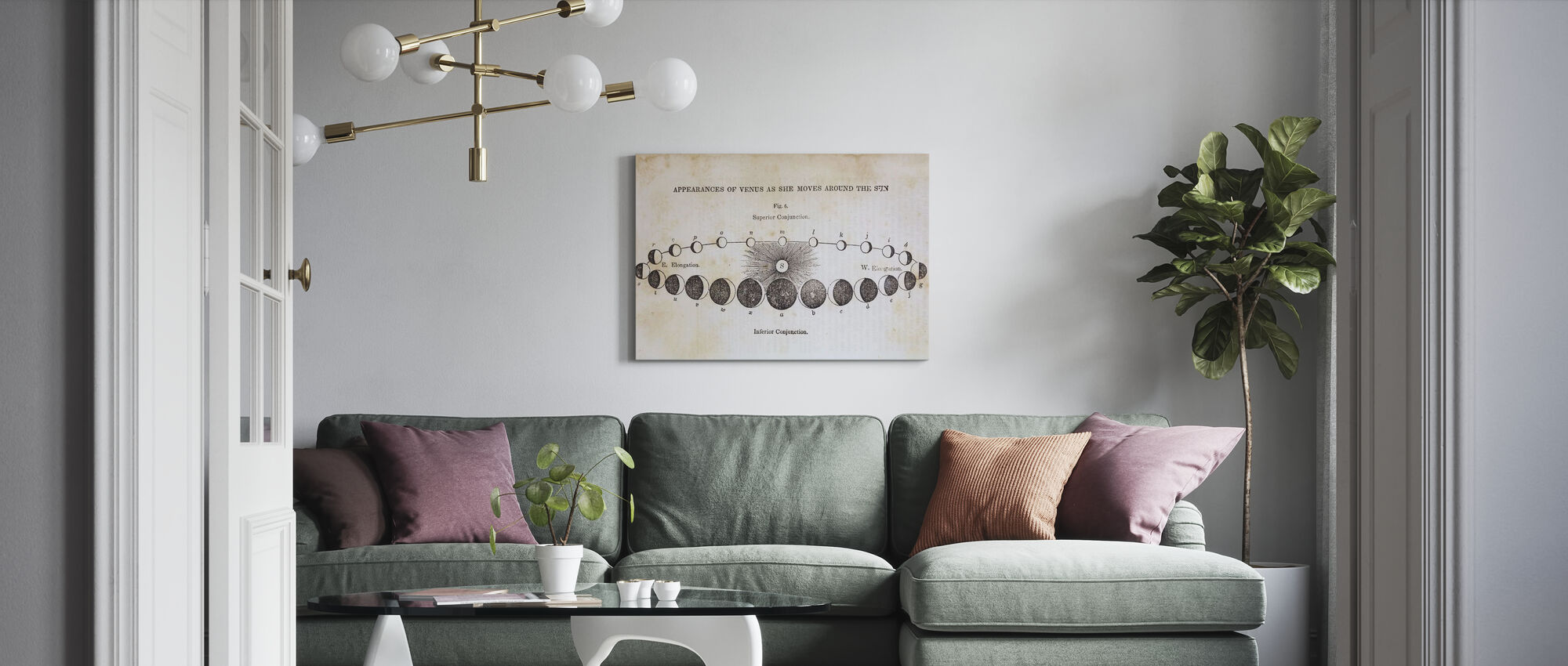 Geography of the Heavens II - Canvas print - Living Room