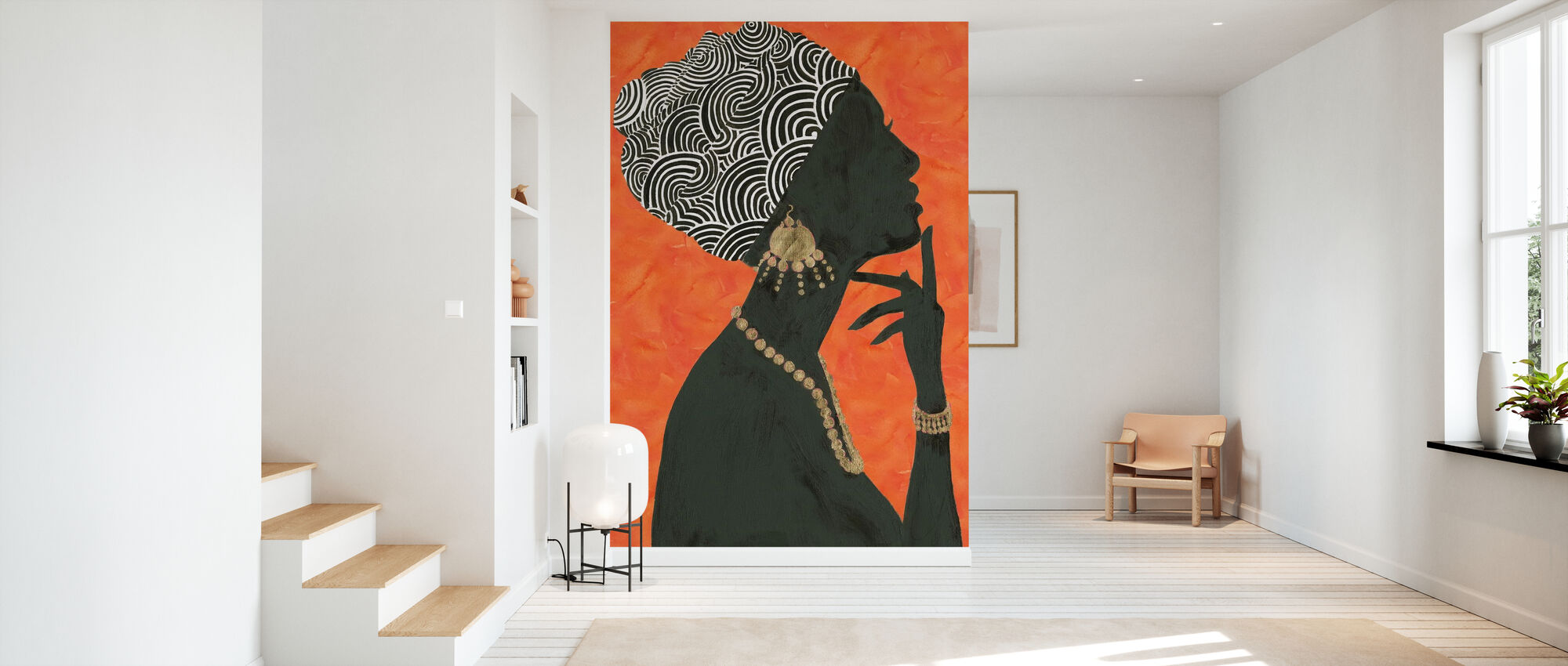 Graceful Majesty I Orange - Wallpaper - Hallway