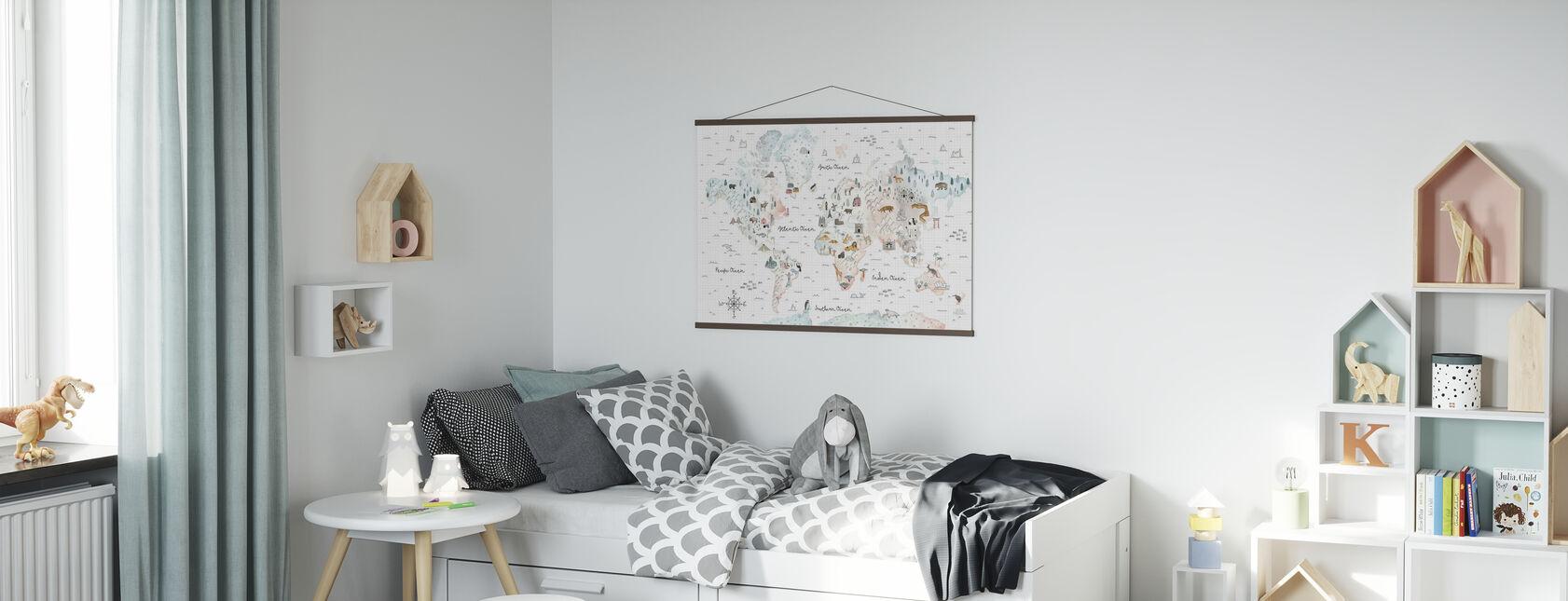 World Traveler I - Poster - Kids Room