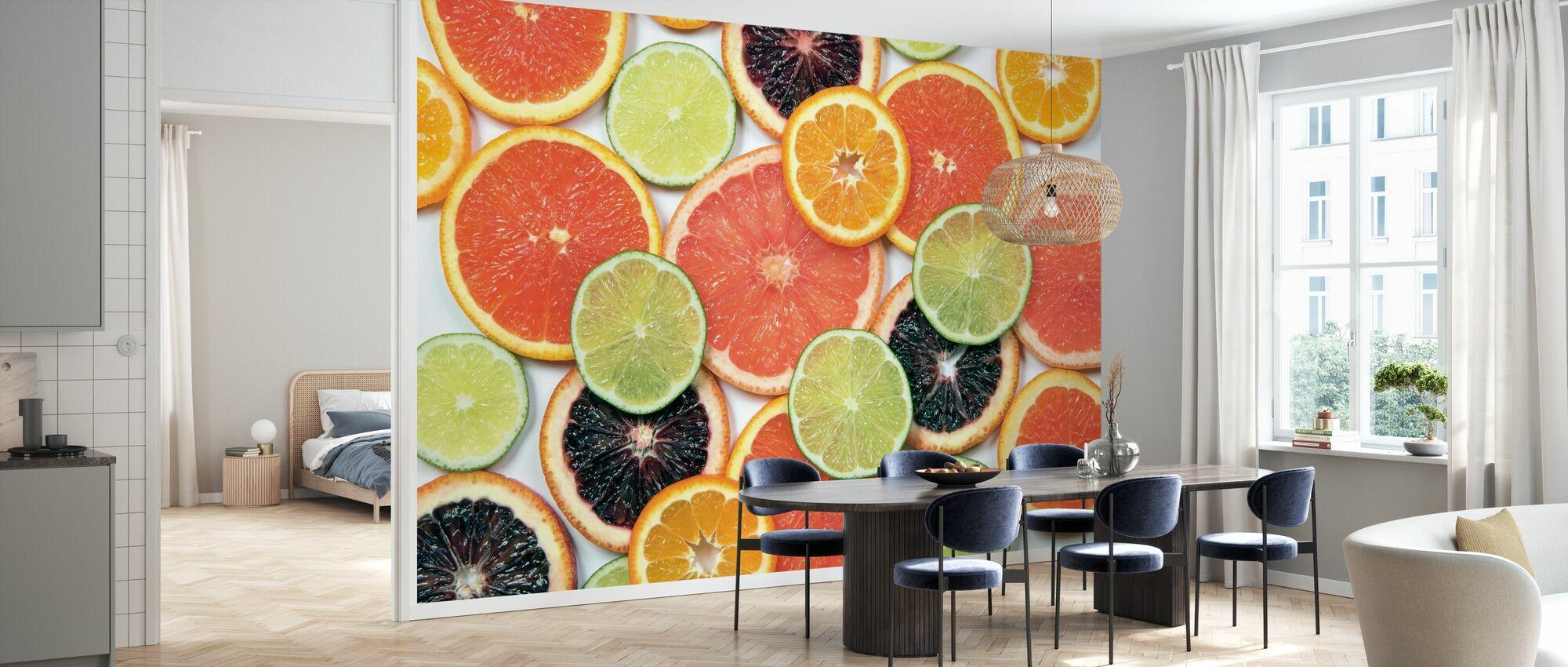 Sunny Citrus IV - Tapete - Küchen