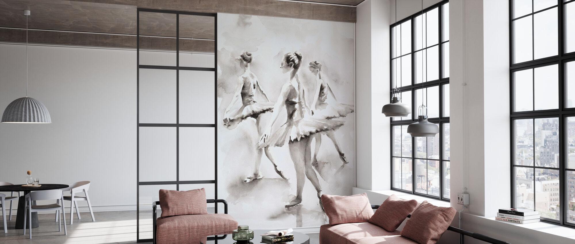 Three Ballerinas - Wallpaper - Office