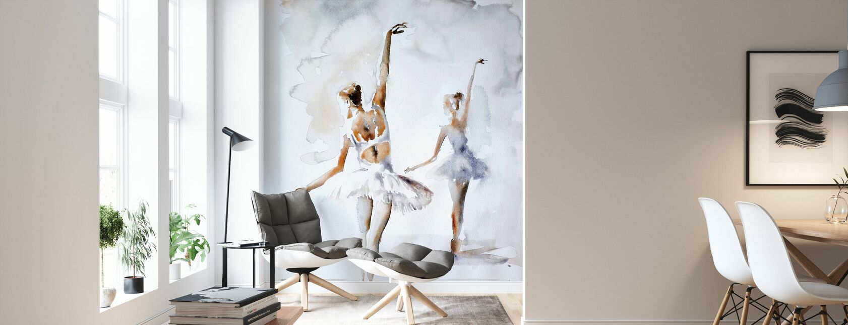 Ballerina In Blue - Wallpaper - Living Room