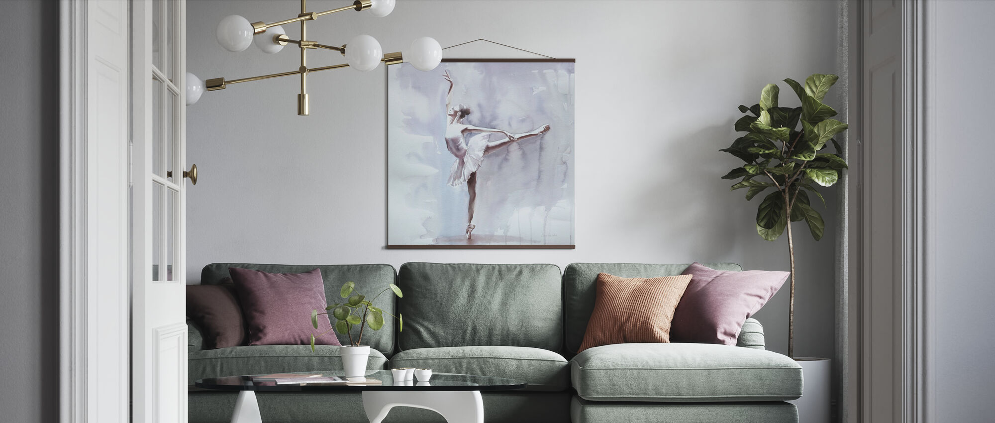 Tumma arabeski - Juliste - Olohuone