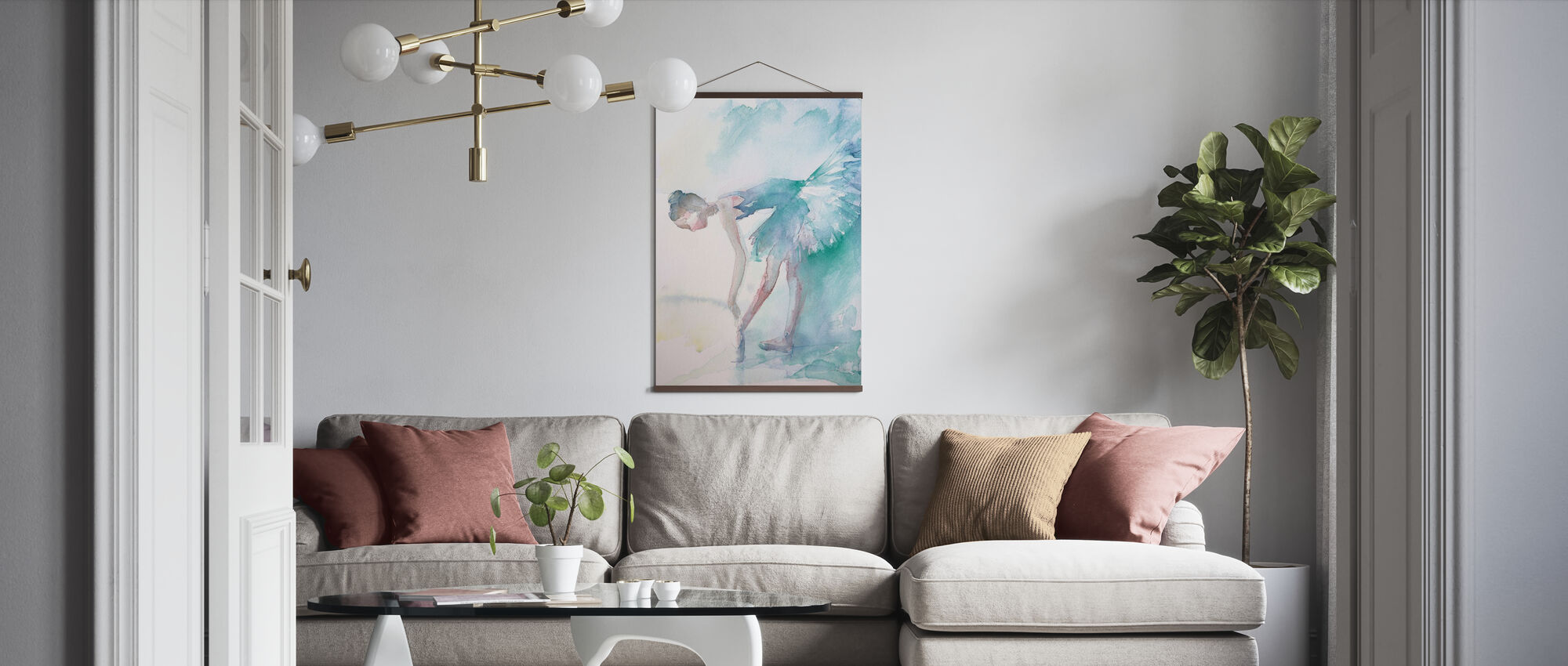 Pointe Shoes - Poster - Living Room