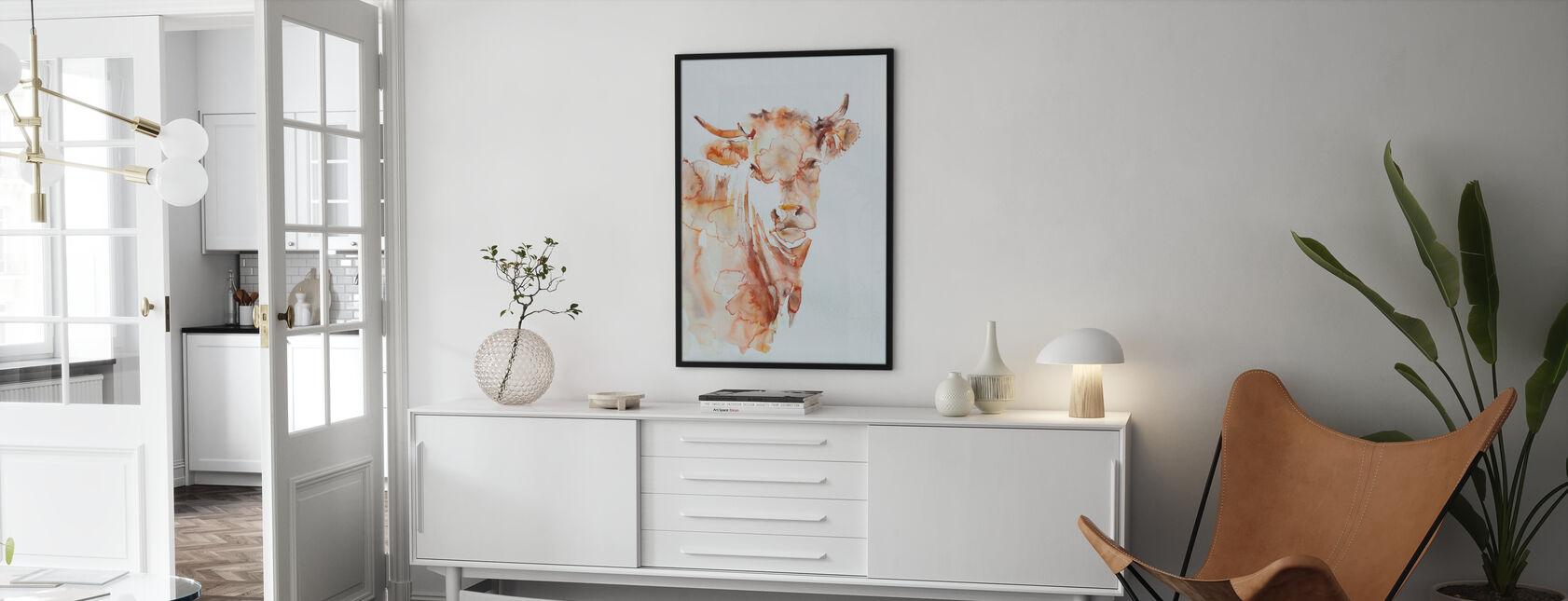 Kylä lehmä - Juliste - Olohuone