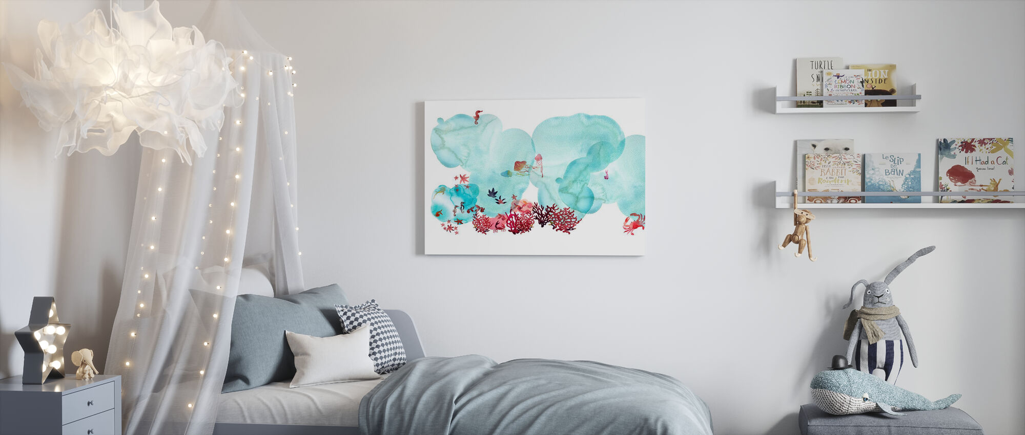 Water Color Coral I - Canvas print - Kids Room