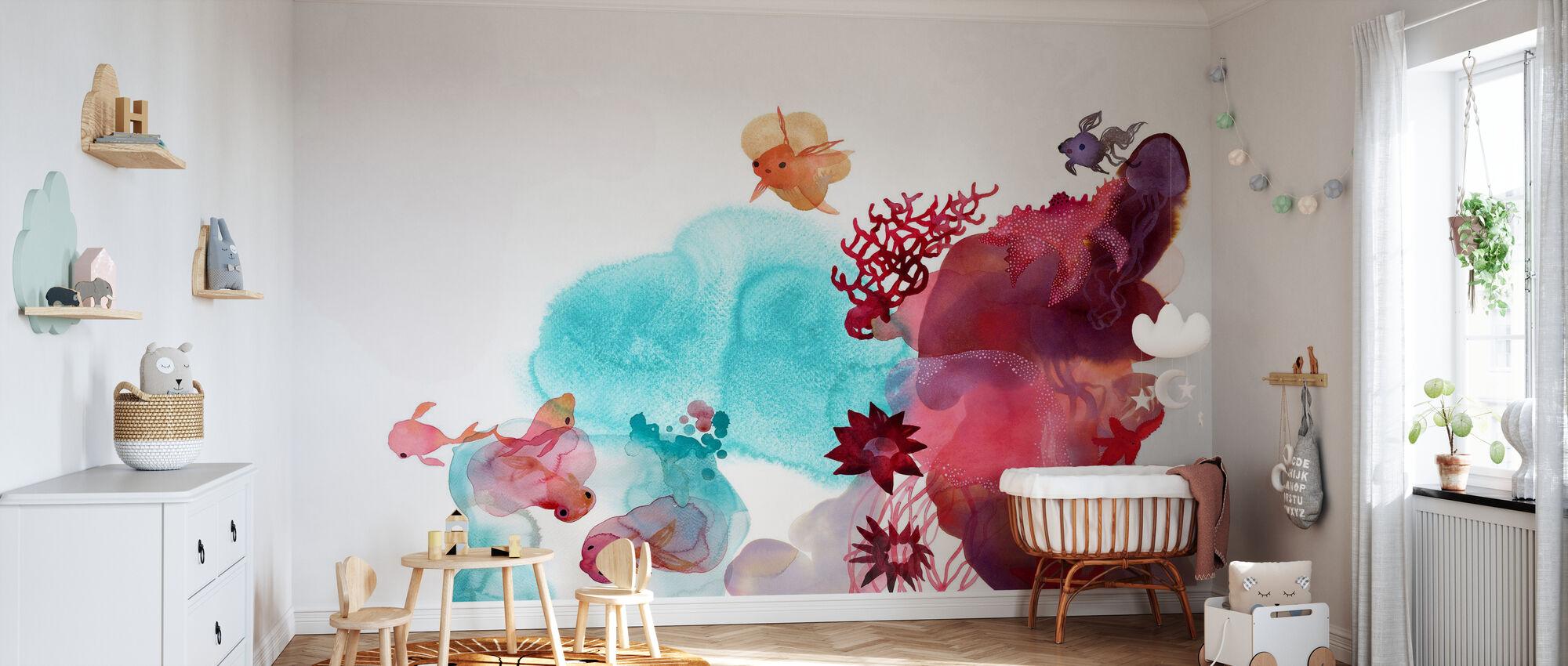 Vesi väri Koralli IV - Tapetti - Vauvan huone