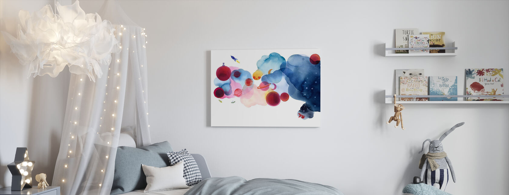 Water Color Space I - Canvas print - Kids Room