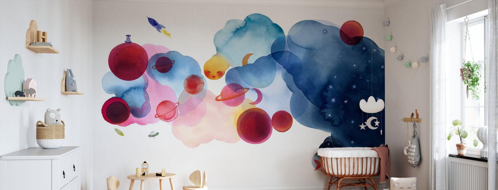 Water Color Space I - Wallpaper - Nursery