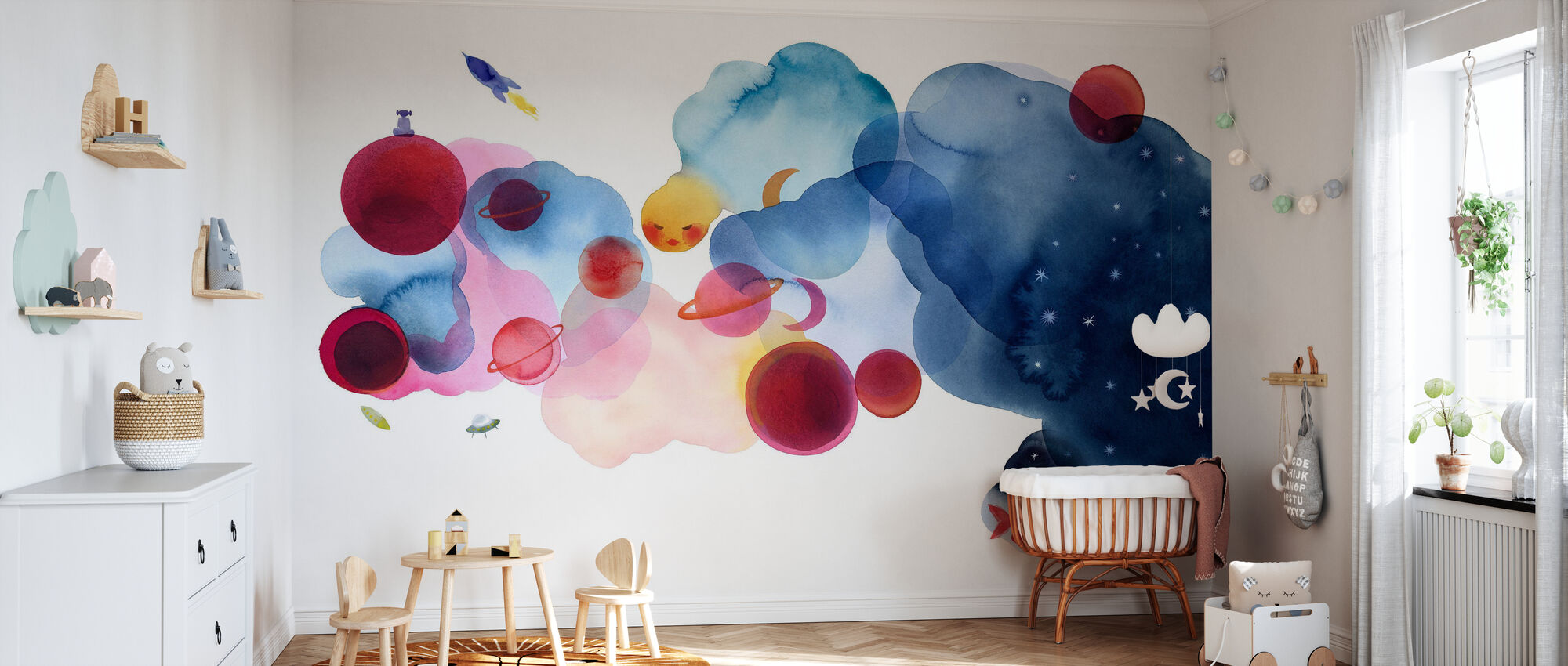 Water Color Space I - Wallpaper - Nursery