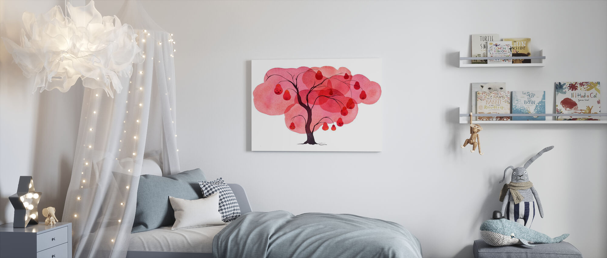 Water Color Trees I - Canvas print - Kids Room
