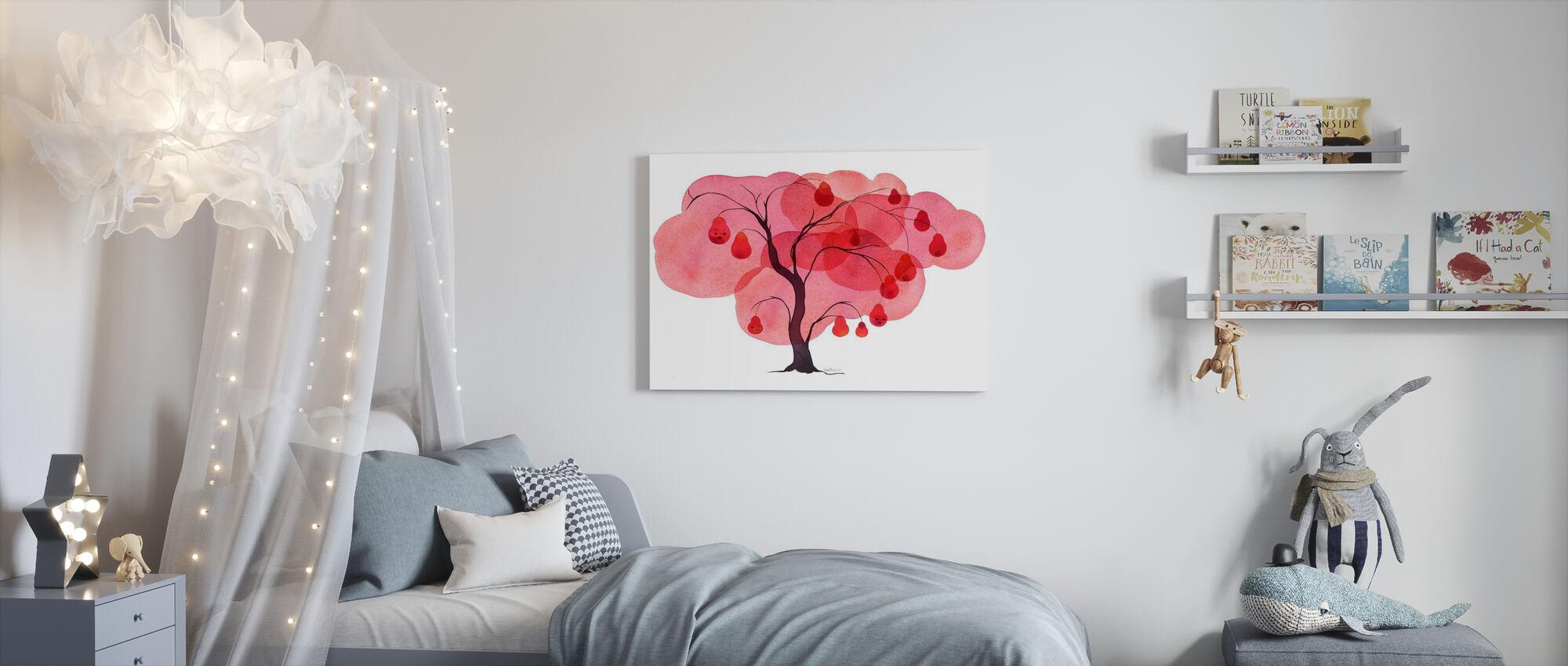 Vattenfärg Träd I - Canvastavla - Barnrum