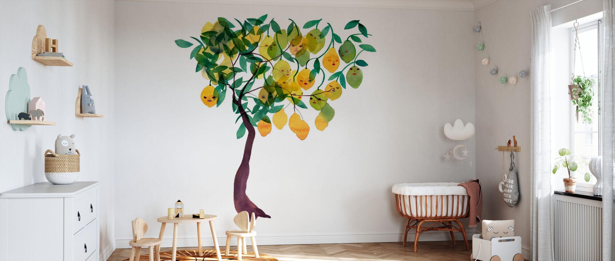 Water Color Trees V - Wallpaper - Nursery