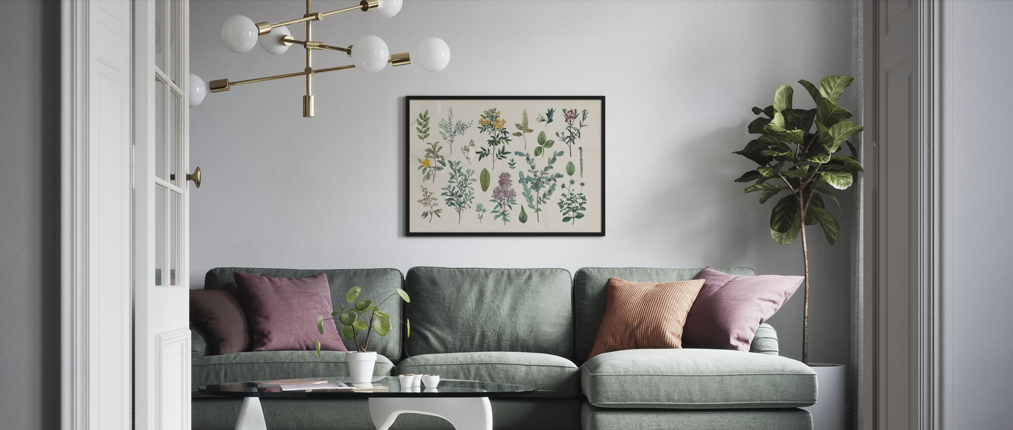 Victorian Garden IV - Poster - Living Room