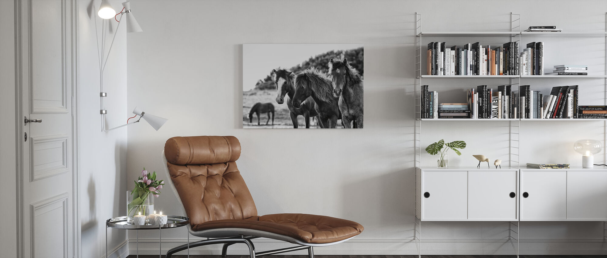 Horses Three - Canvas print - Living Room