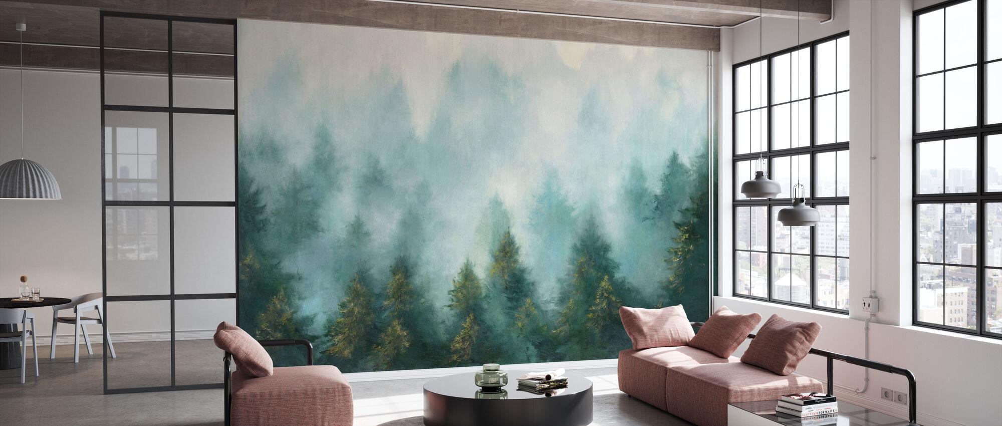 Misty Forest - Wallpaper - Office