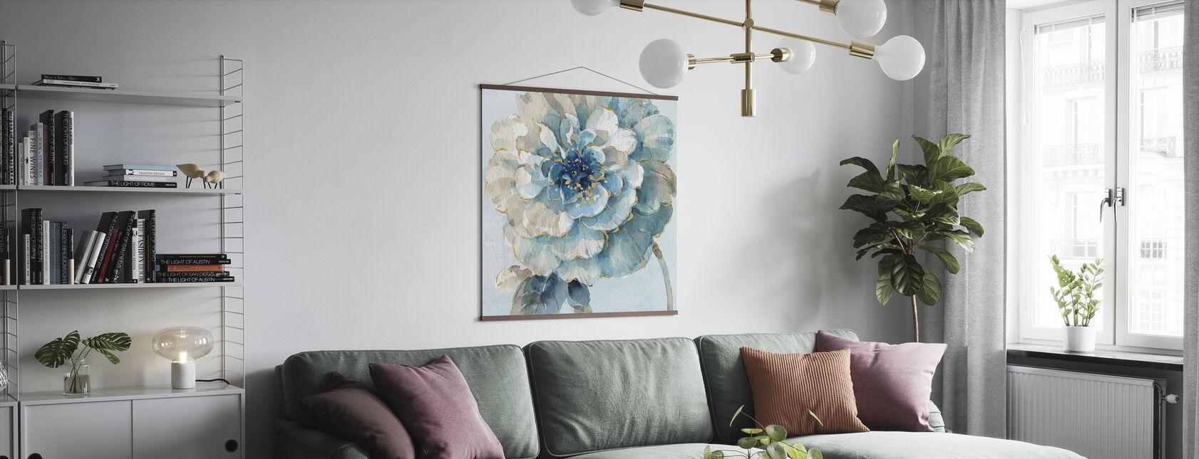 Indigold VII Licht Blauw - Poster - Woonkamer