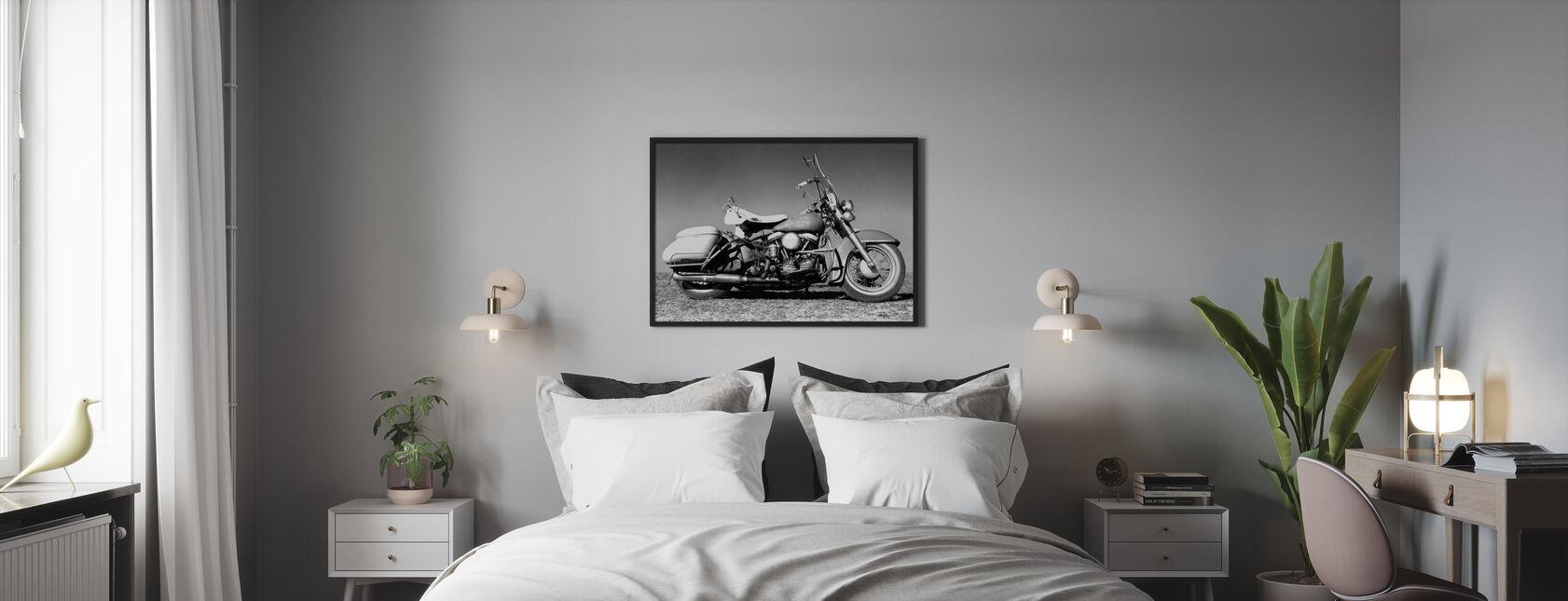 Gammal Harley - Inramad tavla - Sovrum