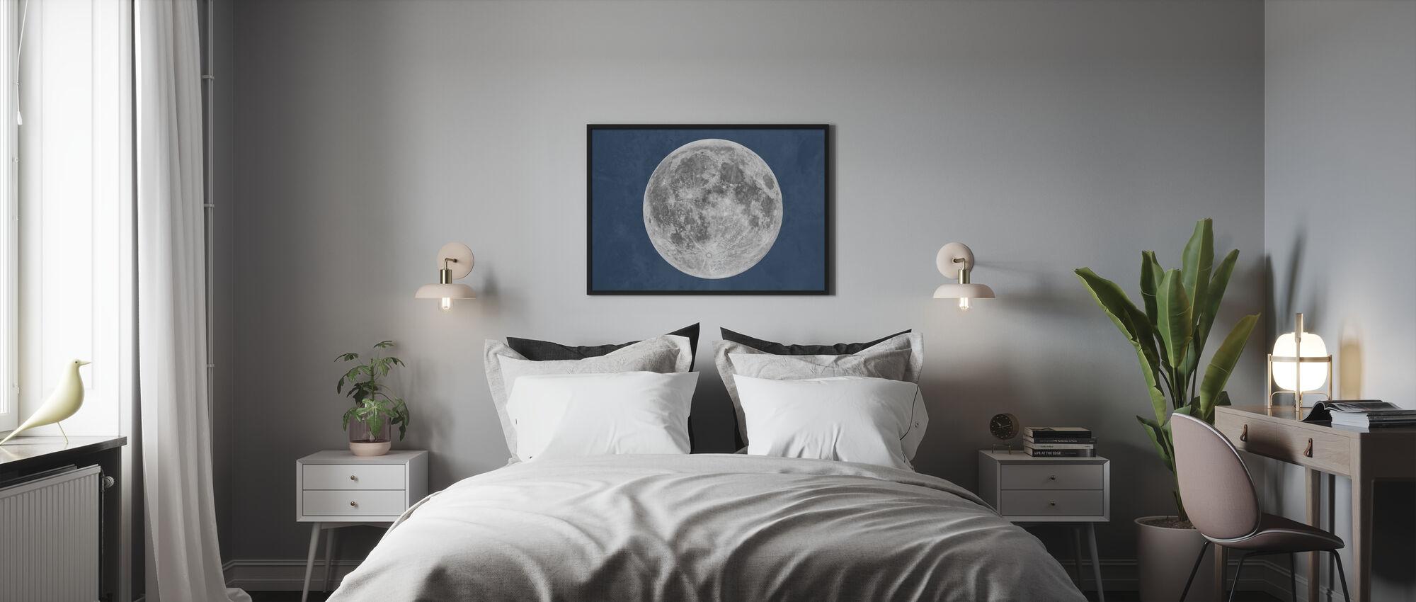 Sininen kuu - Kehystetty kuva - Makuuhuone
