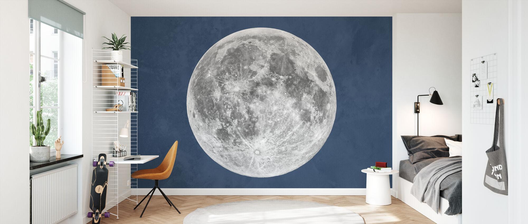 Sininen kuu - Tapetti - Lastenhuone