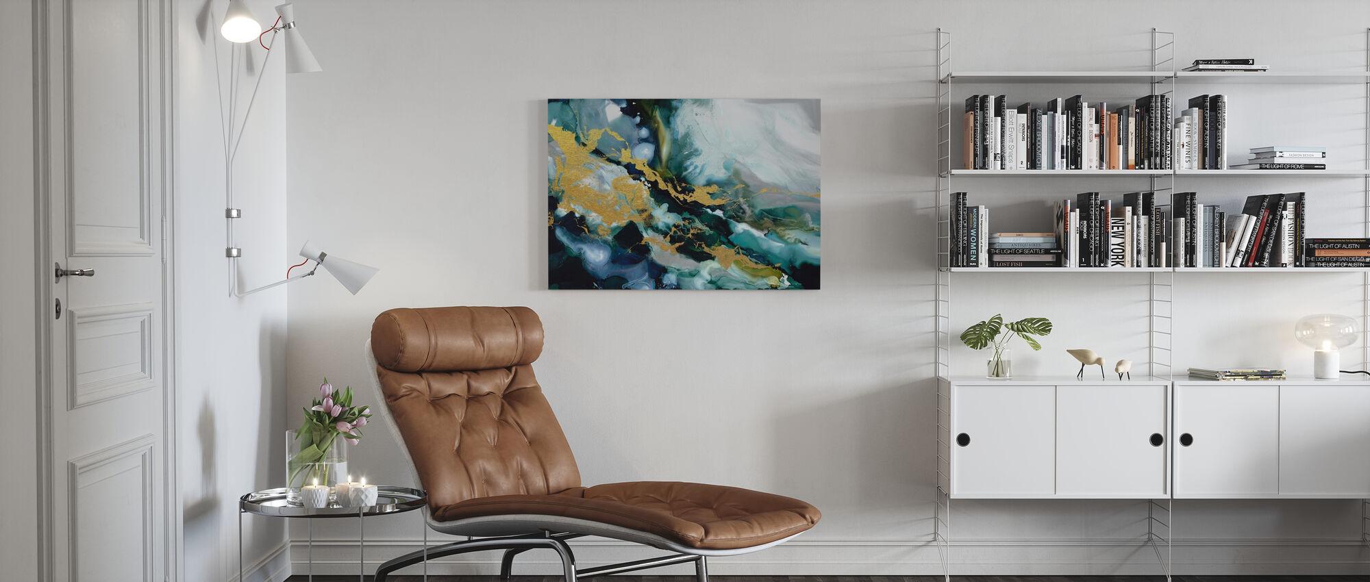 Golden Riptide - Canvas print - Living Room