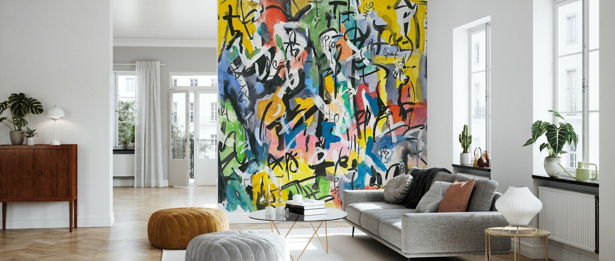 Calligraphic - Wallpaper - Living Room