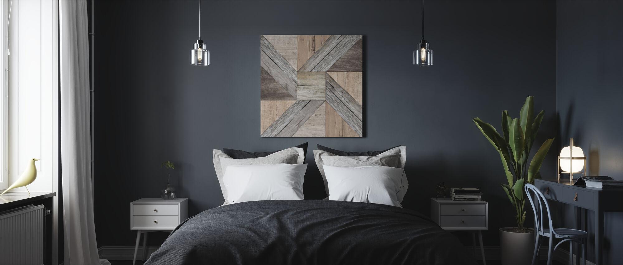 Reclaimed Pinwheel - Canvas print - Bedroom