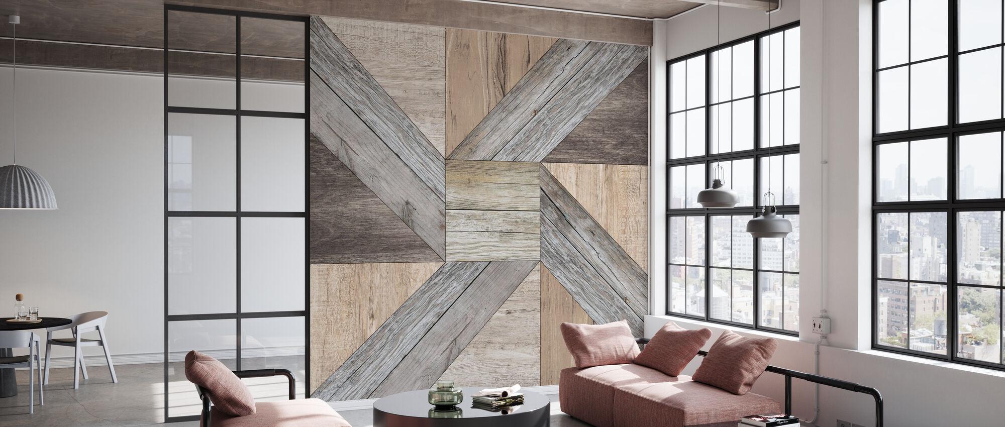 Reclaimed Pinwheel - Wallpaper - Office