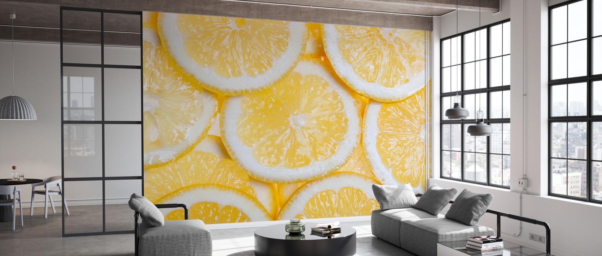 Orangenfrucht - Tapete - Büro