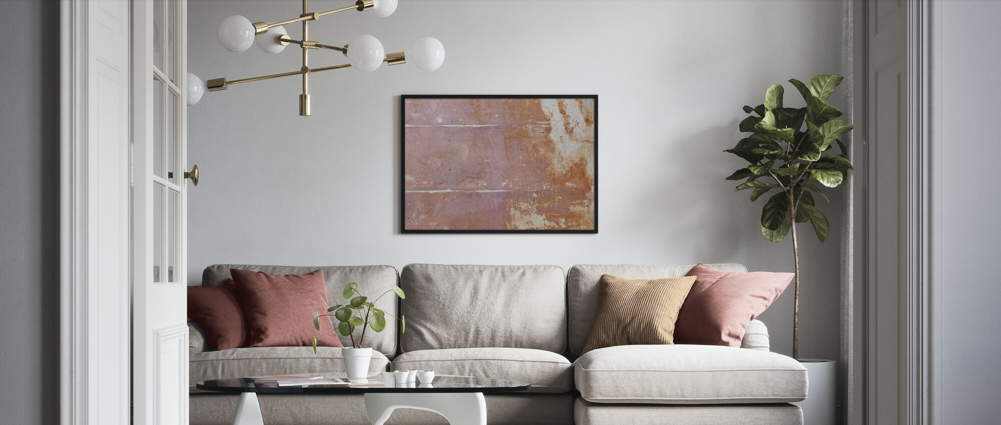 Rusten Bakgrunn II - Innrammet bilde - Stue