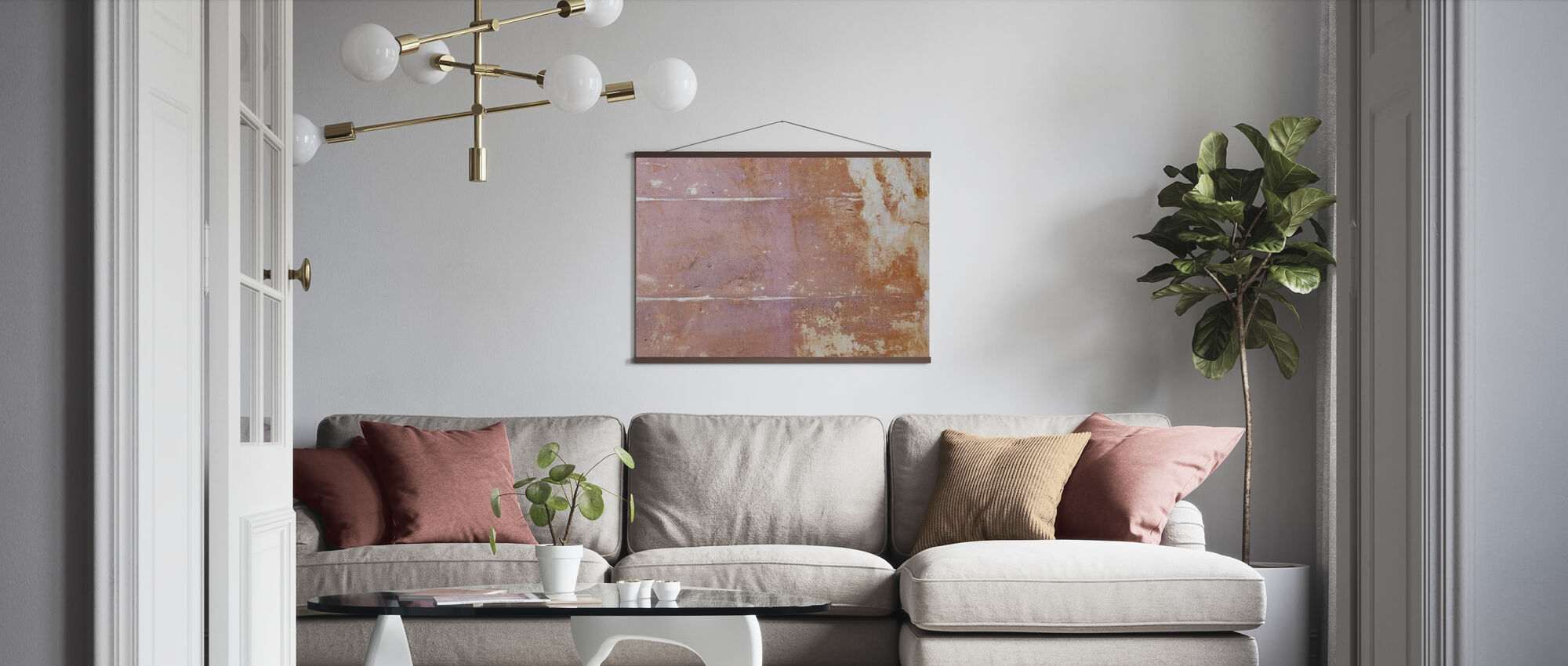 Rusten Bakgrunn II - Plakat - Stue