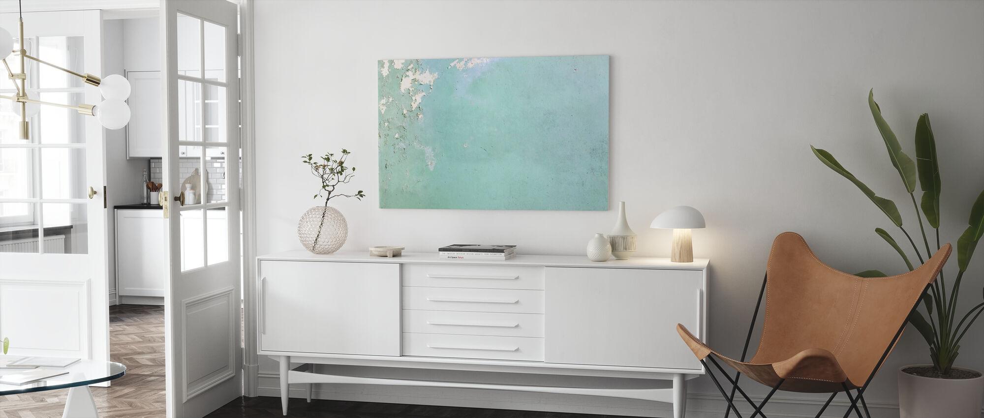Light Blue Wallpaper - Canvas print - Living Room