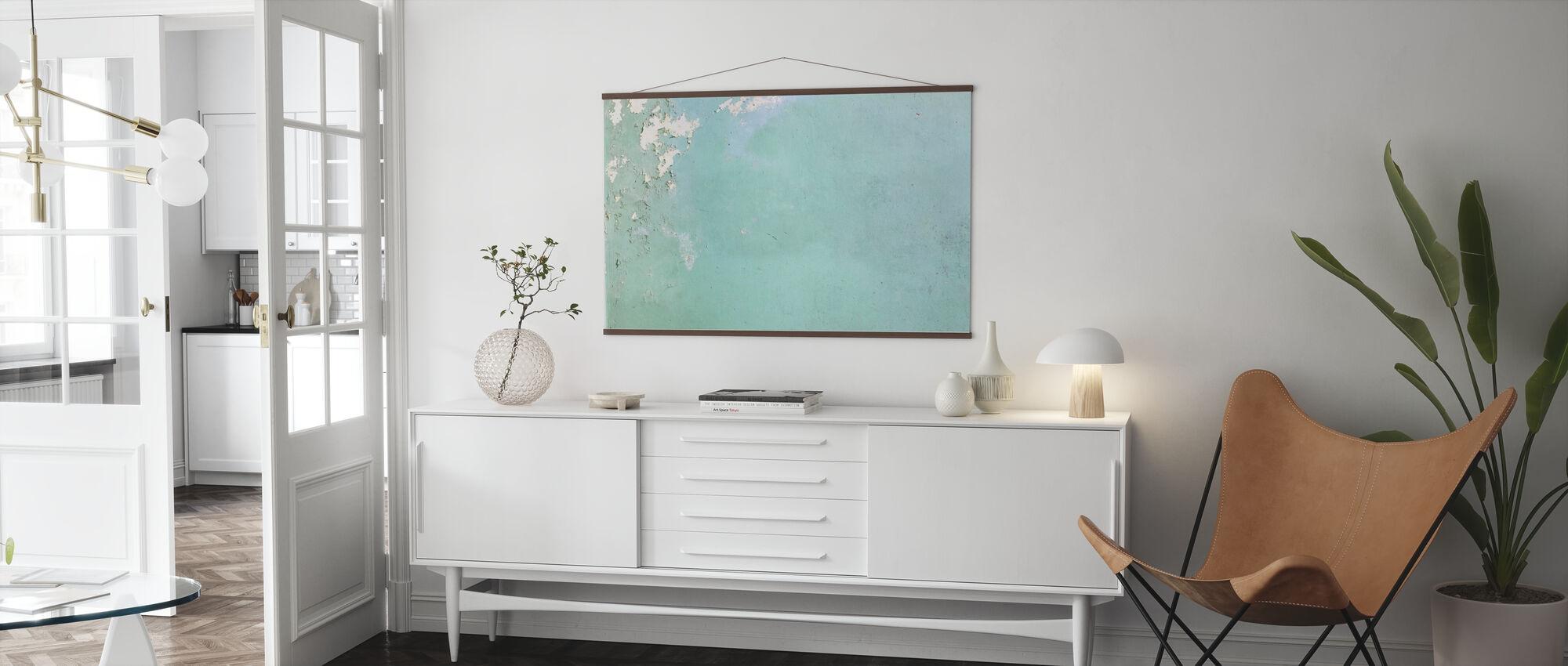 Light Blue Wallpaper - Poster - Living Room