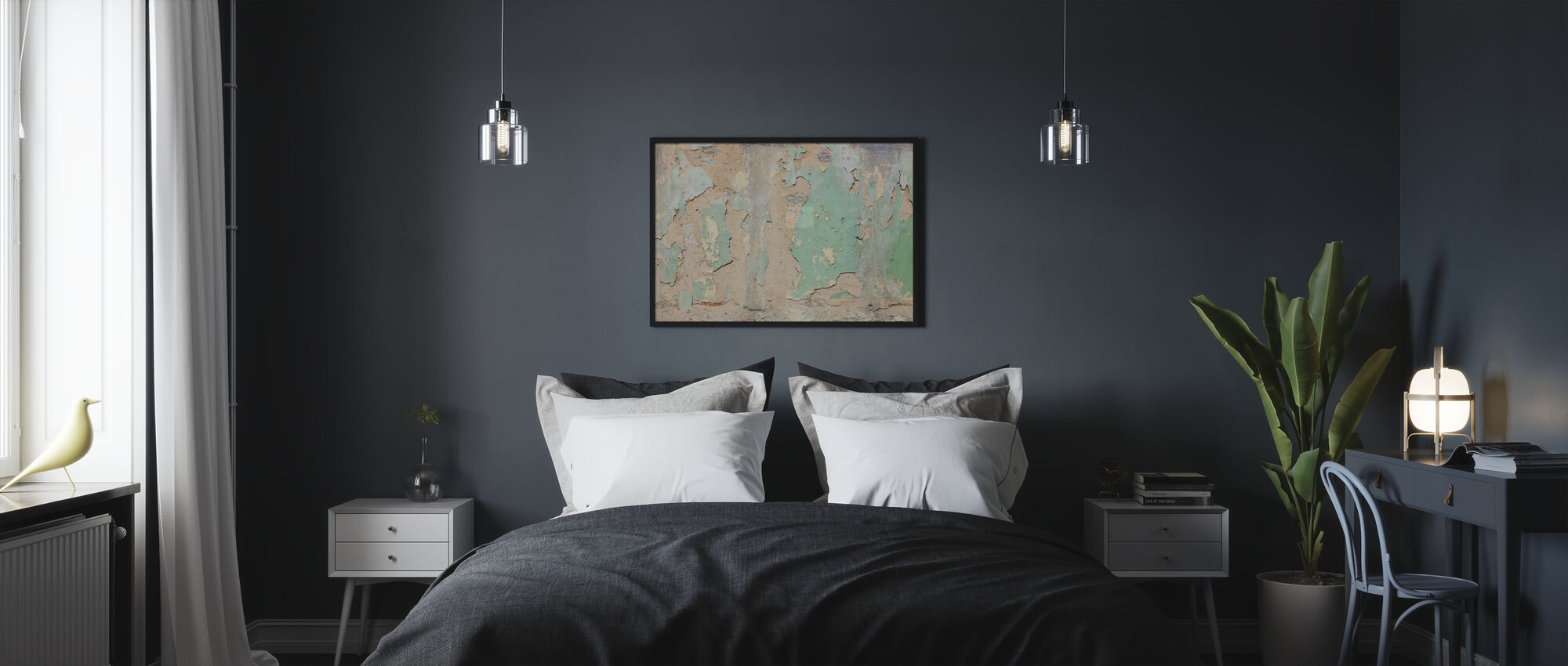 Worned Out Wallpaper - Poster - Bedroom
