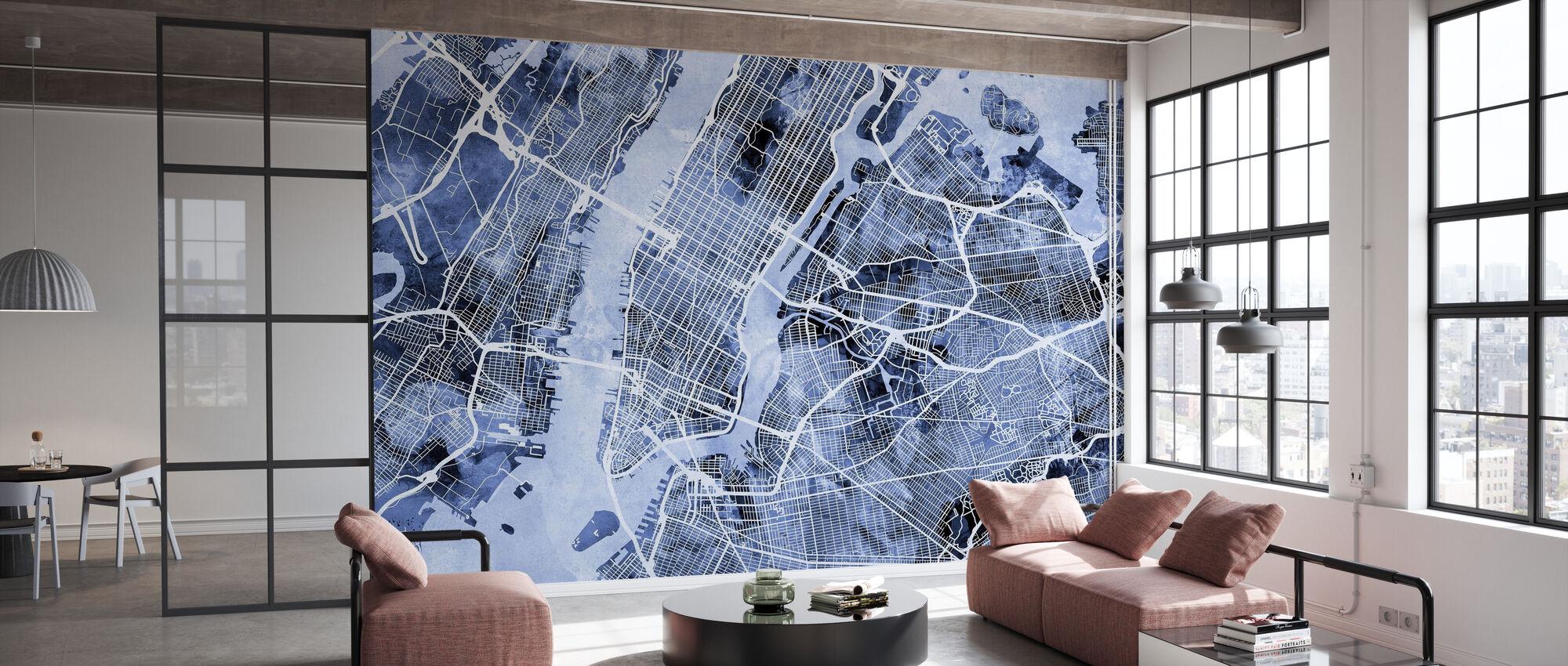 New York City Street Map - Wallpaper - Office