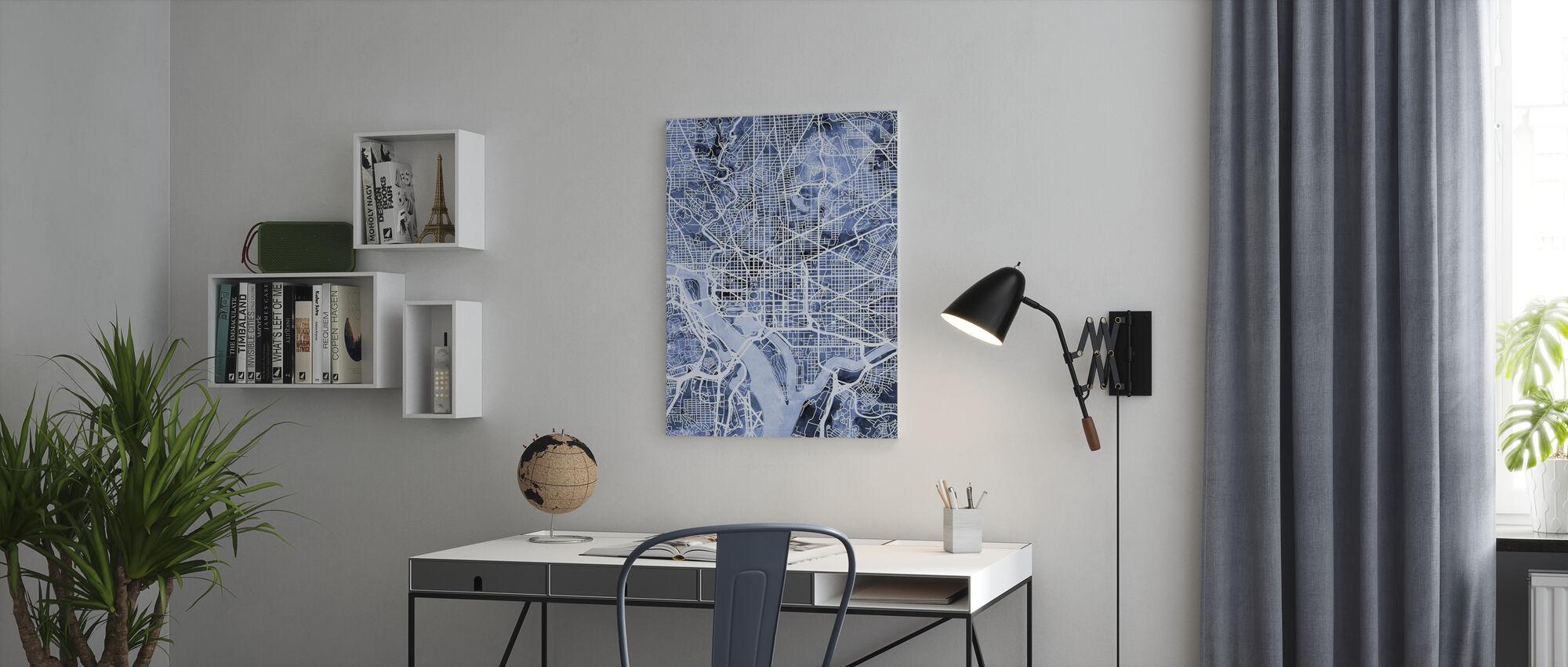 Washington DC Street Map - Canvas print - Office