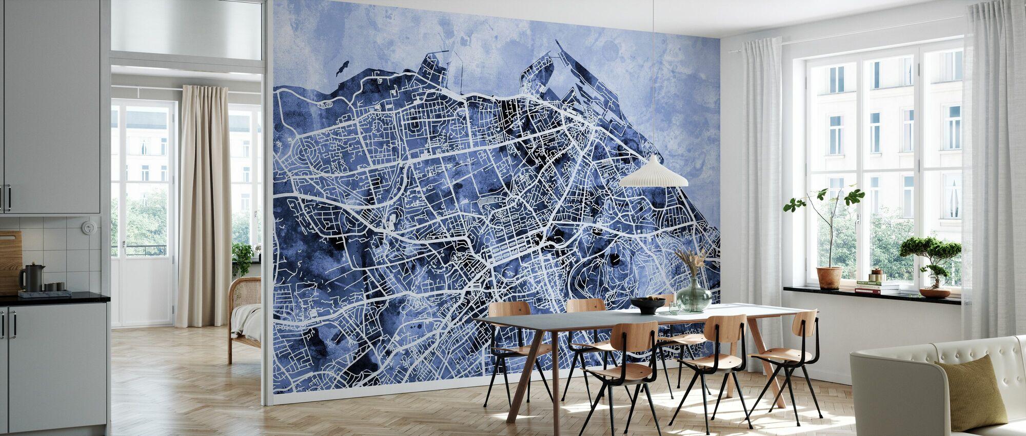 Edinburgh Street Map - Wallpaper - Kitchen