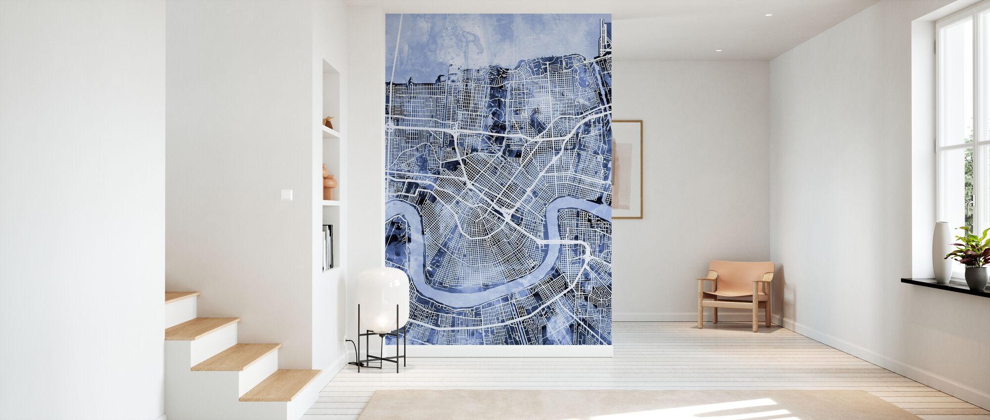 New Orleans Street Map - Wallpaper - Hallway