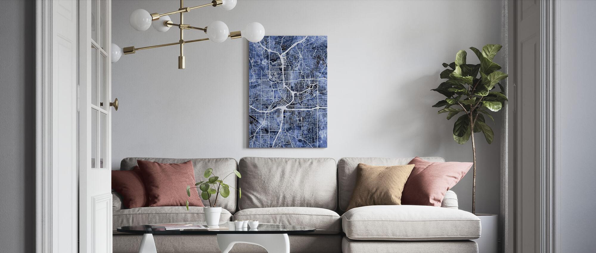 Atlanta Georgia City Map - Canvas print - Living Room