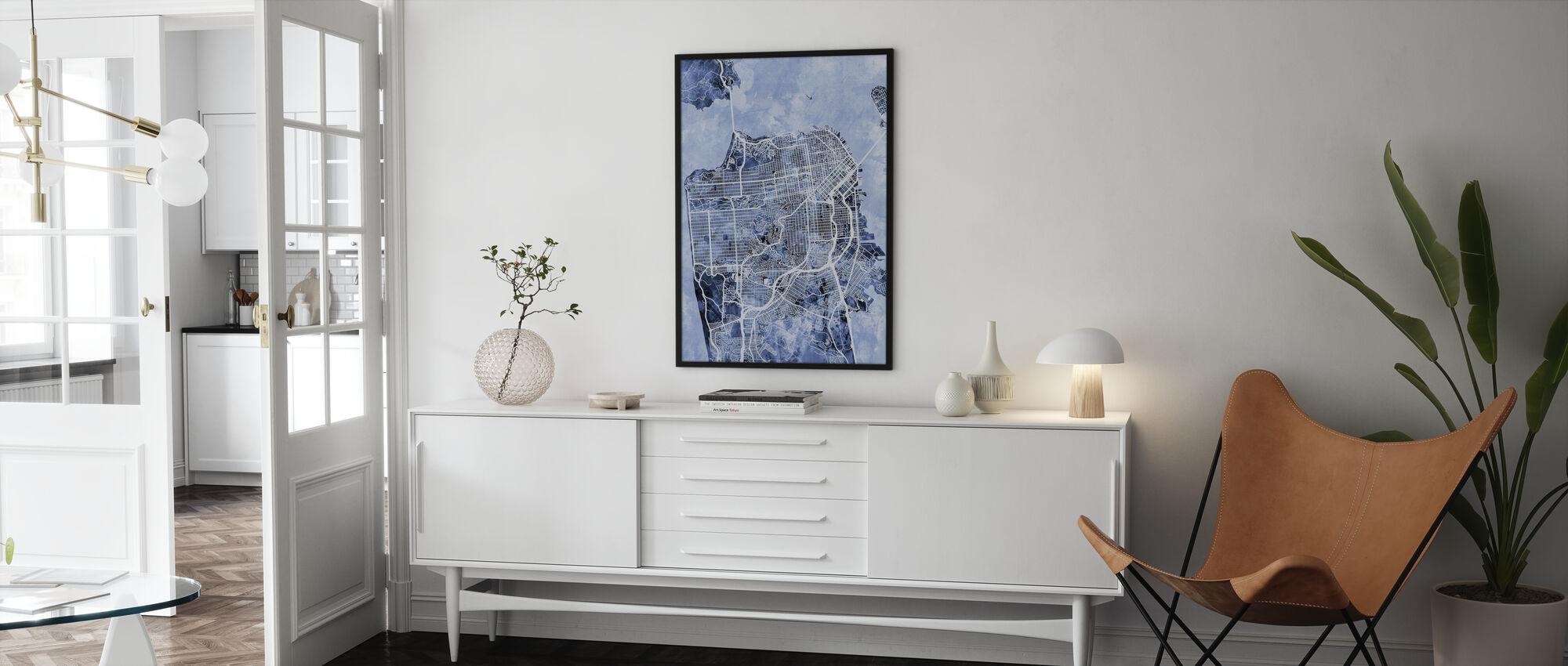 San Francisco City Street Map - Poster - Living Room