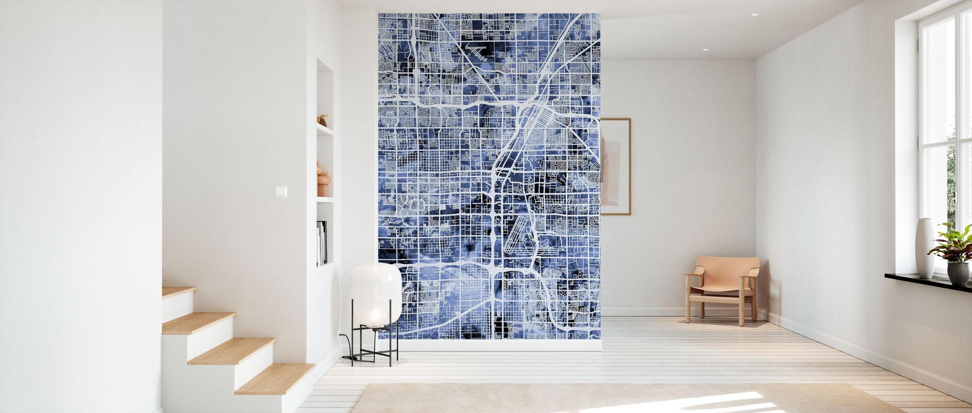 Las Vegas City Street Map - Wallpaper - Hallway