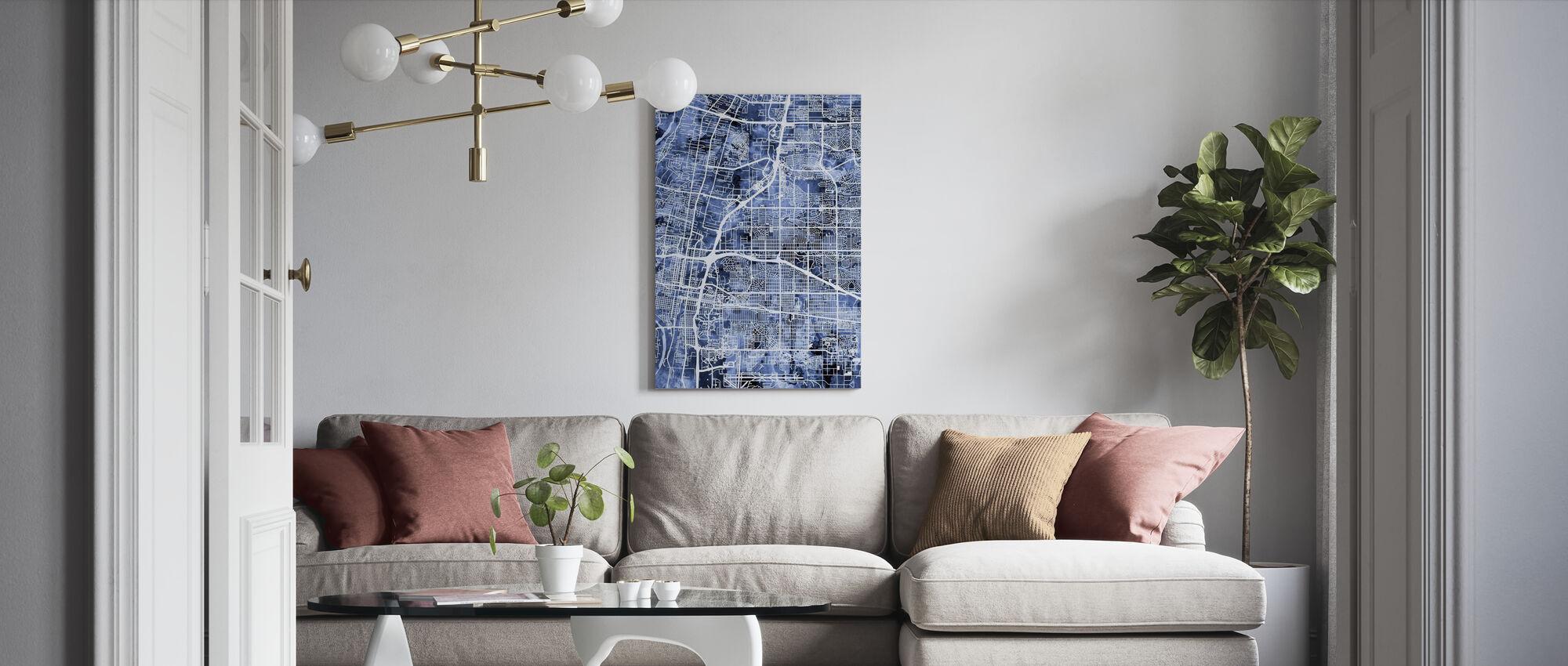 Albuquerque New Mexico City Street Map - Canvas print - Living Room